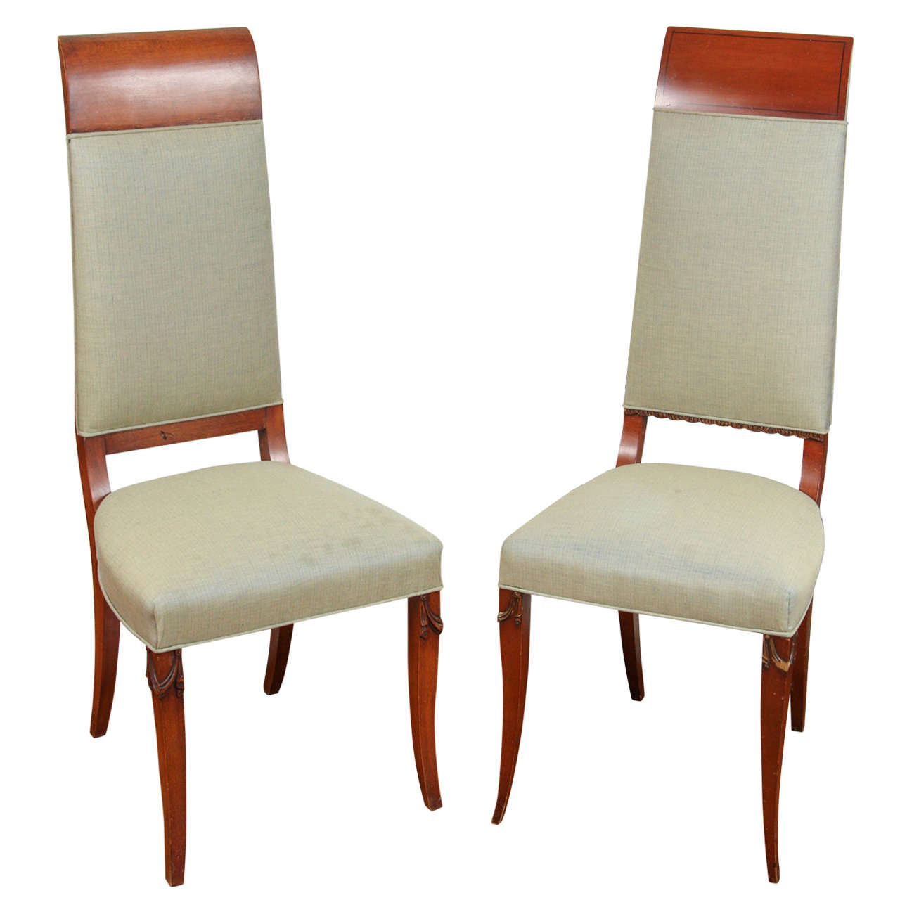 His and her deco salon chairs for sale at 1stdibs for Salon chairs for sale