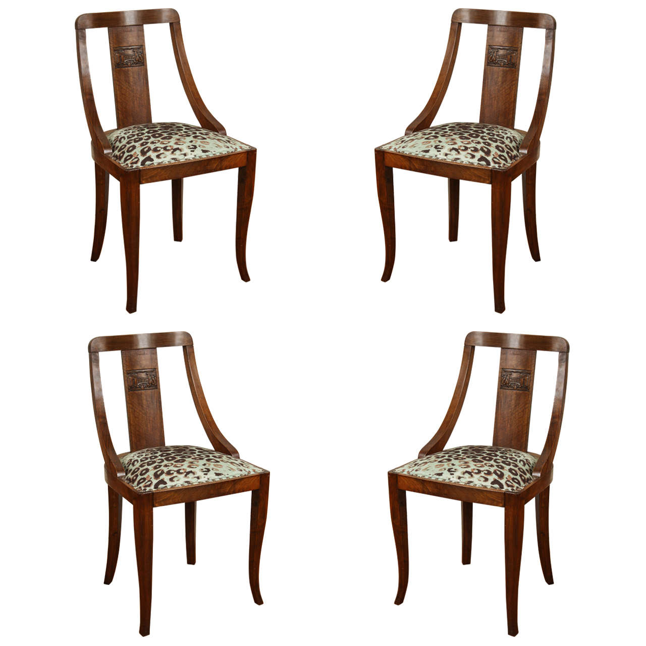Exquisite Set of Four Dining Chairs
