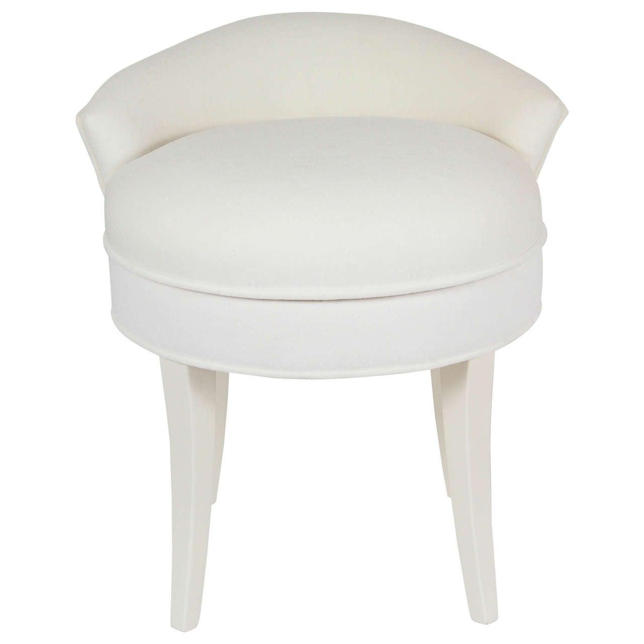Samuel Marx Upholstered Vanity Stool 1Samuel Marx Upholstered Vanity Stool at 1stdibs. Low Back Vanity Chair. Home Design Ideas