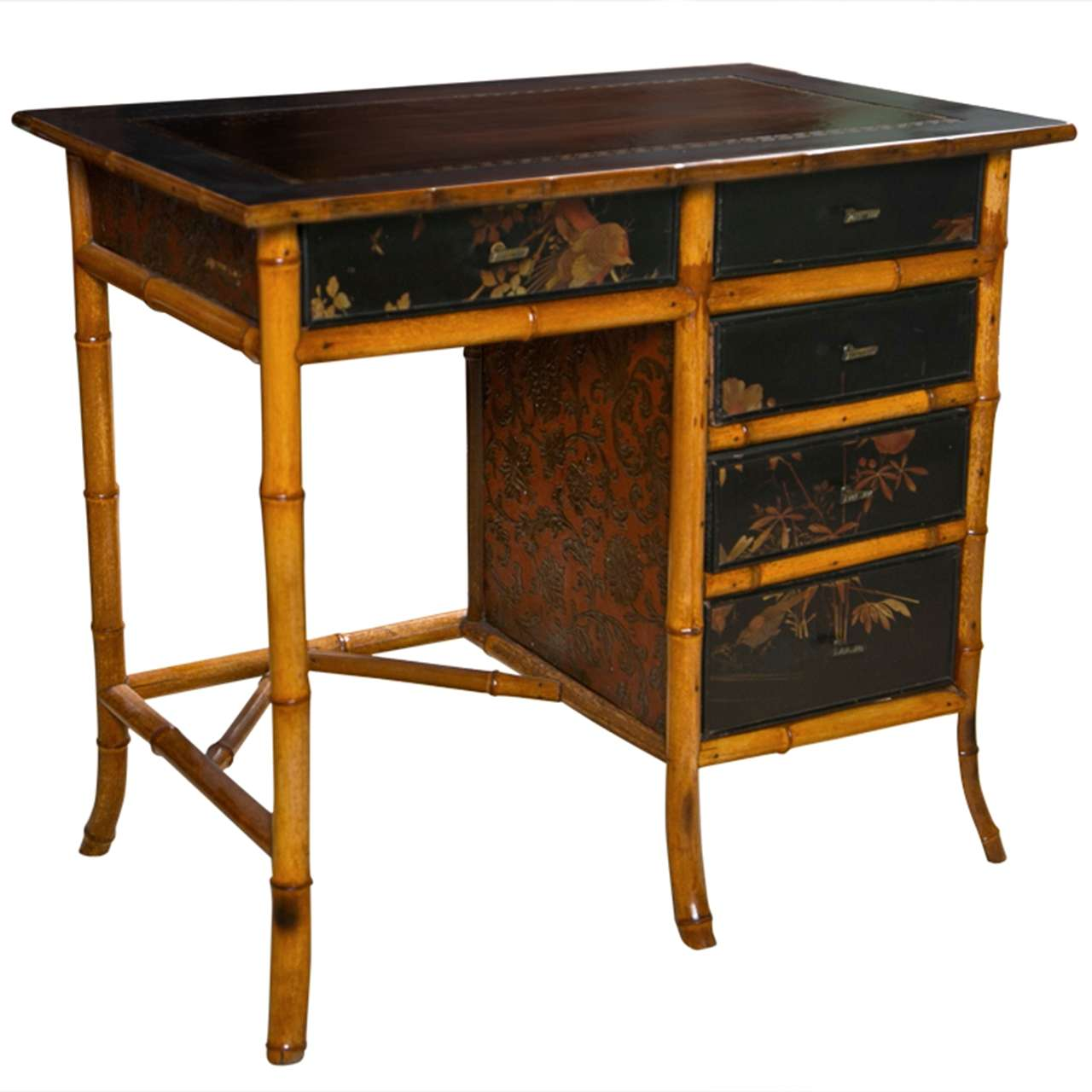 Victorian Chinoiserie Bamboo Desk at 1stdibs