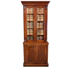 A fine William IV period tall mahogany and glazed door Bookcase