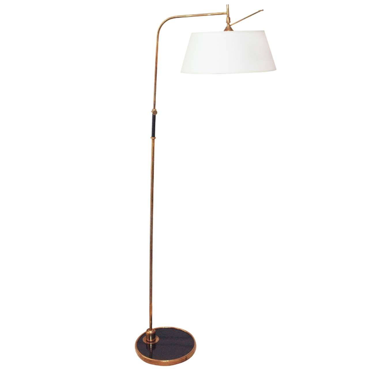 Elegant articulated 1950s bronze floor lamp for sale at for Led articulated floor lamp
