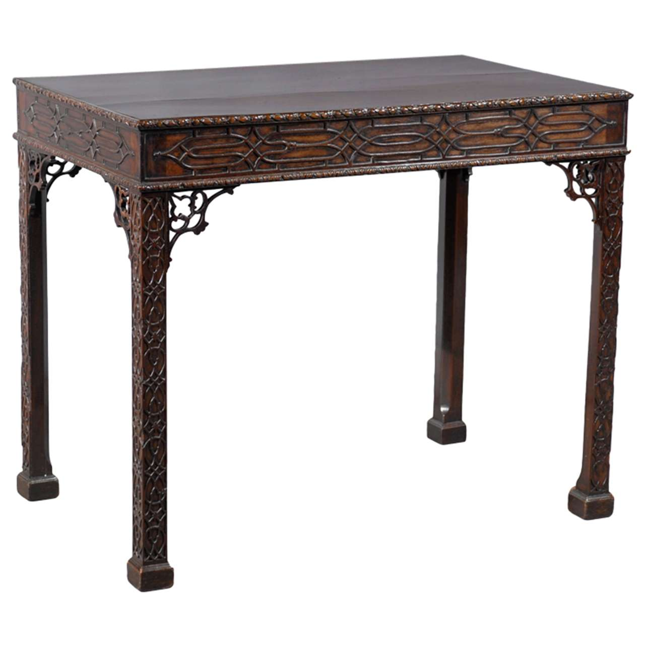 19th century english chinese chippendale style tea table for England table
