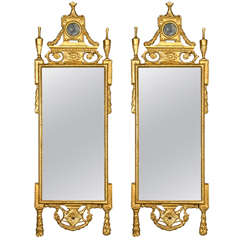 Rectangular Mirror With Sectioned Mirror Frame For Sale At