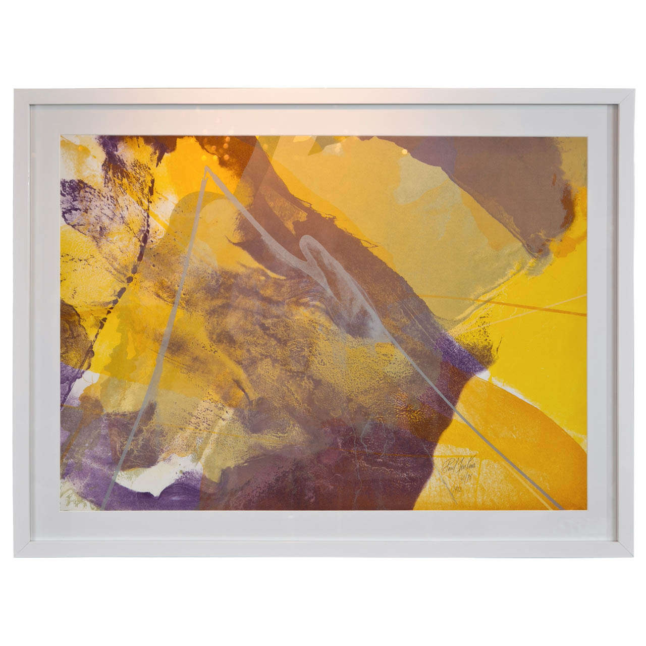 Yellow, Purple, Lavender Paul Jenkins Original Lithograph