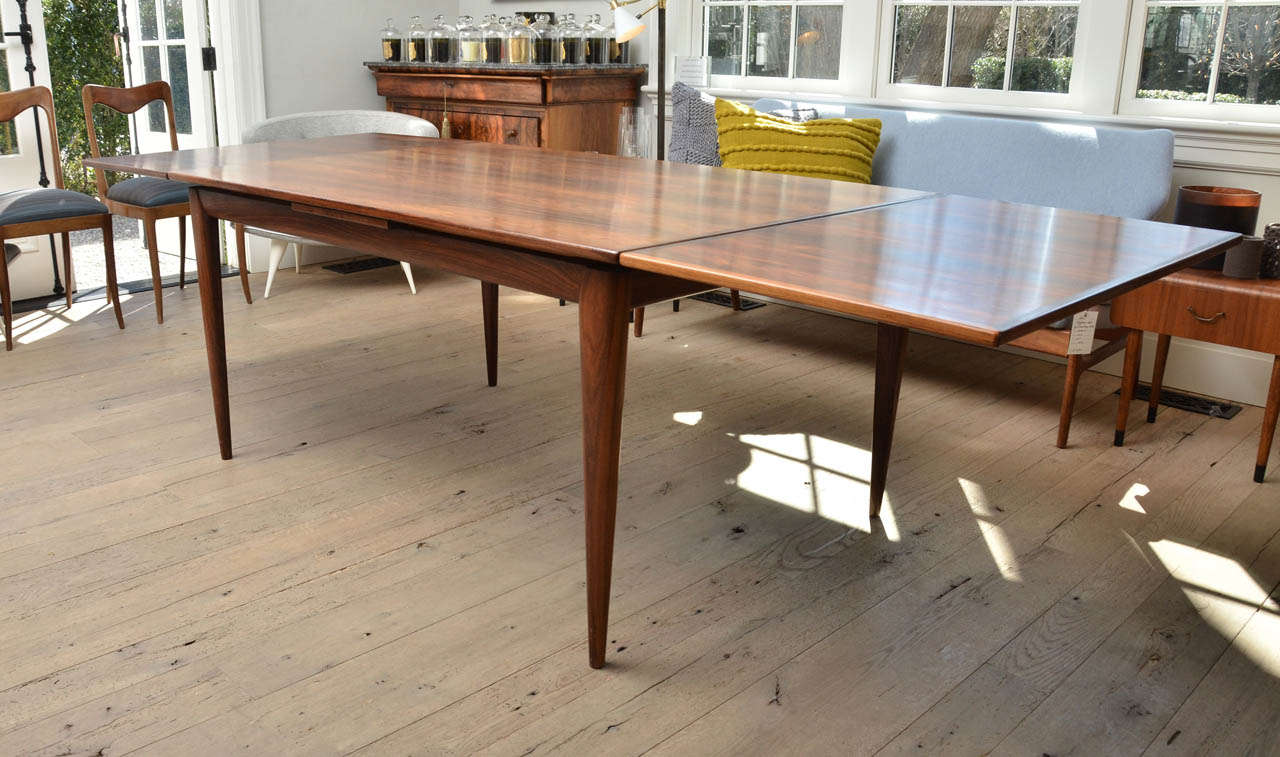 Stunning Mid Century Niels Otto Moller Rosewood Dining Table Model 12 With Pull