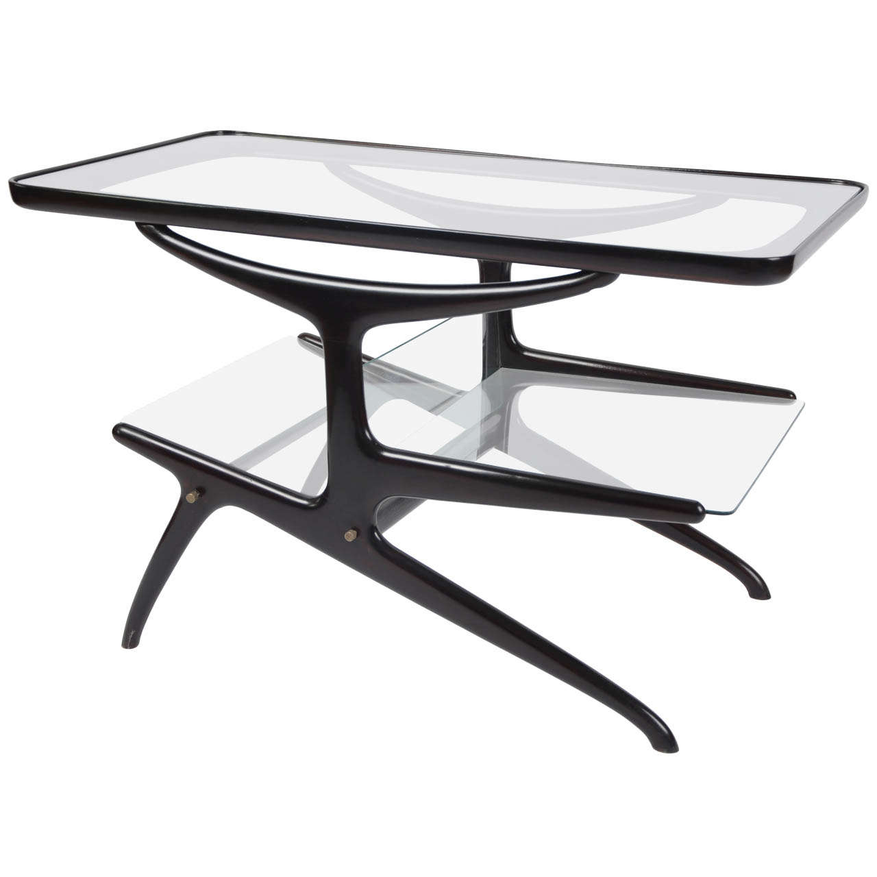 Wonderful image of Coffee Table with Magazine Rack at 1stdibs with #51575D color and 1280x1280 pixels