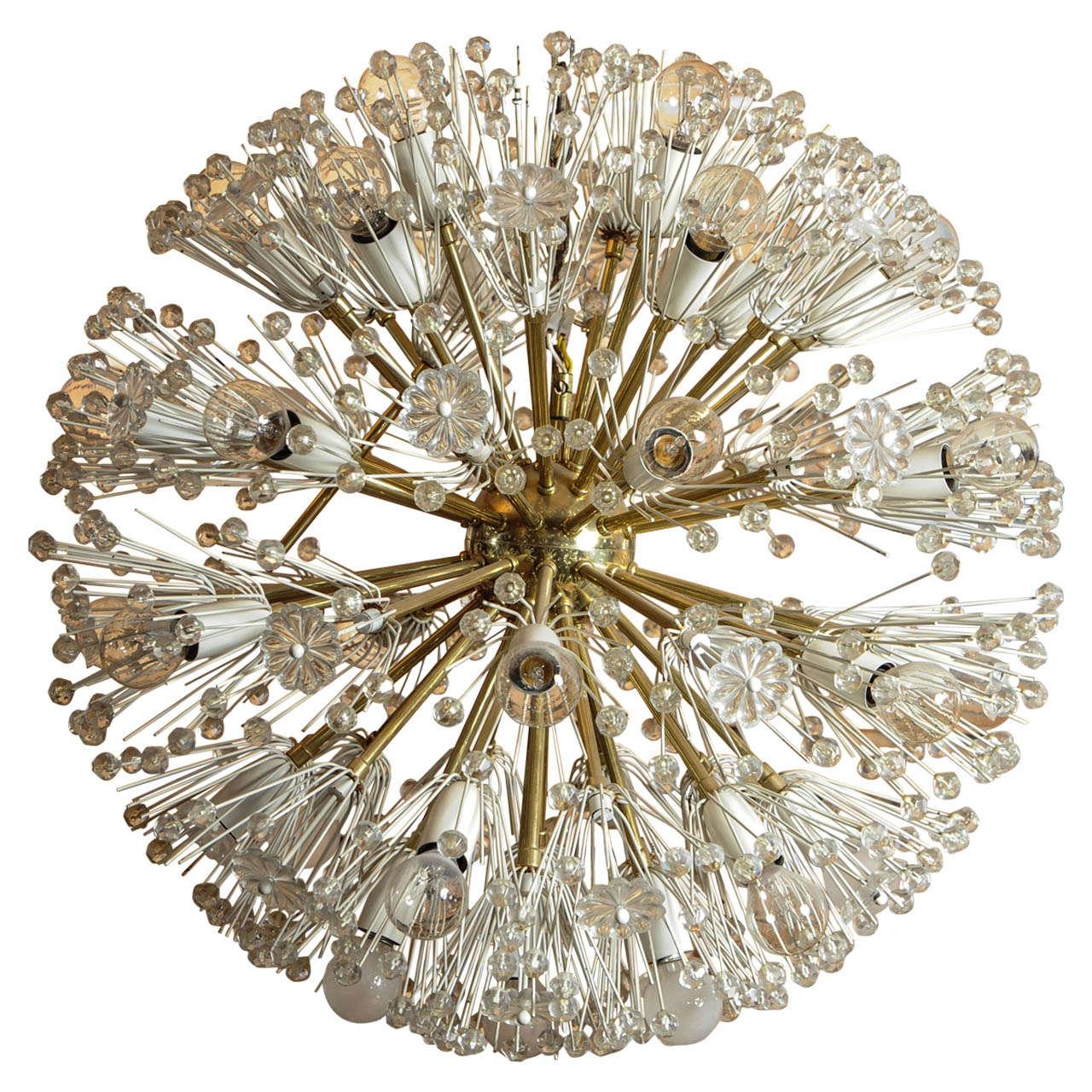Large emil stejnar snowball starburst sputnik chandelier for Sputnik chandelier