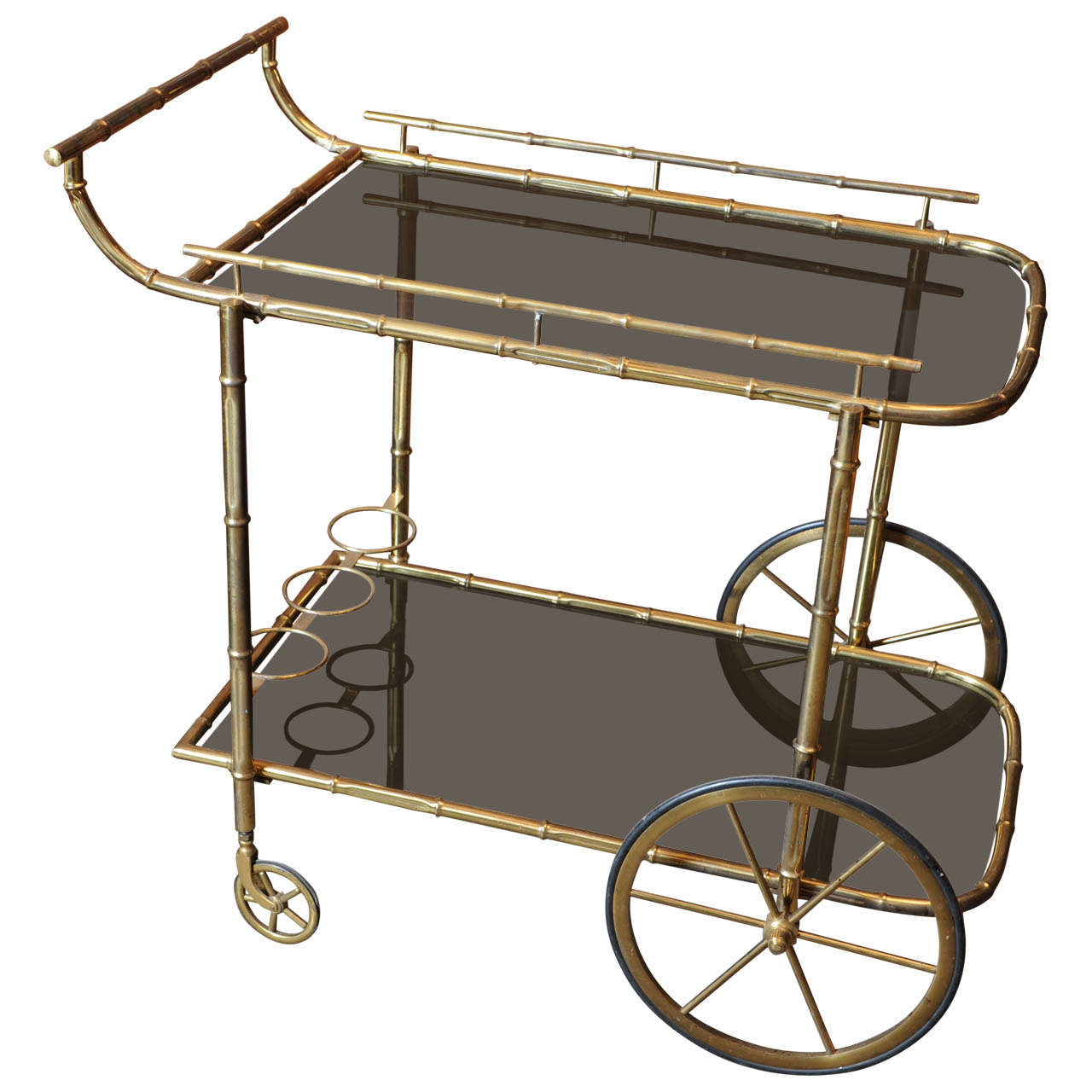 tea or drinks trolley bar cart attributed to jacques adnet . tea or drinks trolley bar cart attributed to jacques adnet at stdibs