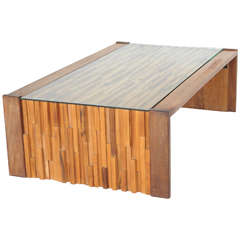 Percival Lafer Brazilian Brutalist Jacaranda Coffee Table