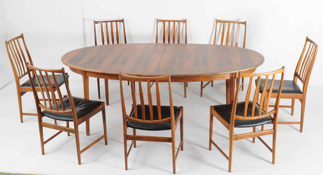 Rosewood Dining Table and Eight Chairs Model quotDarbyquot by  : DSC8428 from 1stdibs.com size 1280 x 695 jpeg 93kB