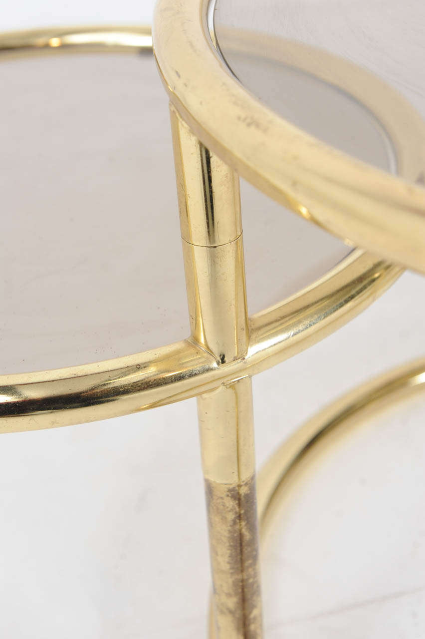 Maison Jansen Style Circular Multifunctional Coffee Table At 1stdibs
