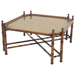 Hollywood Regency Style Coffee Table Made in Spain, Marked