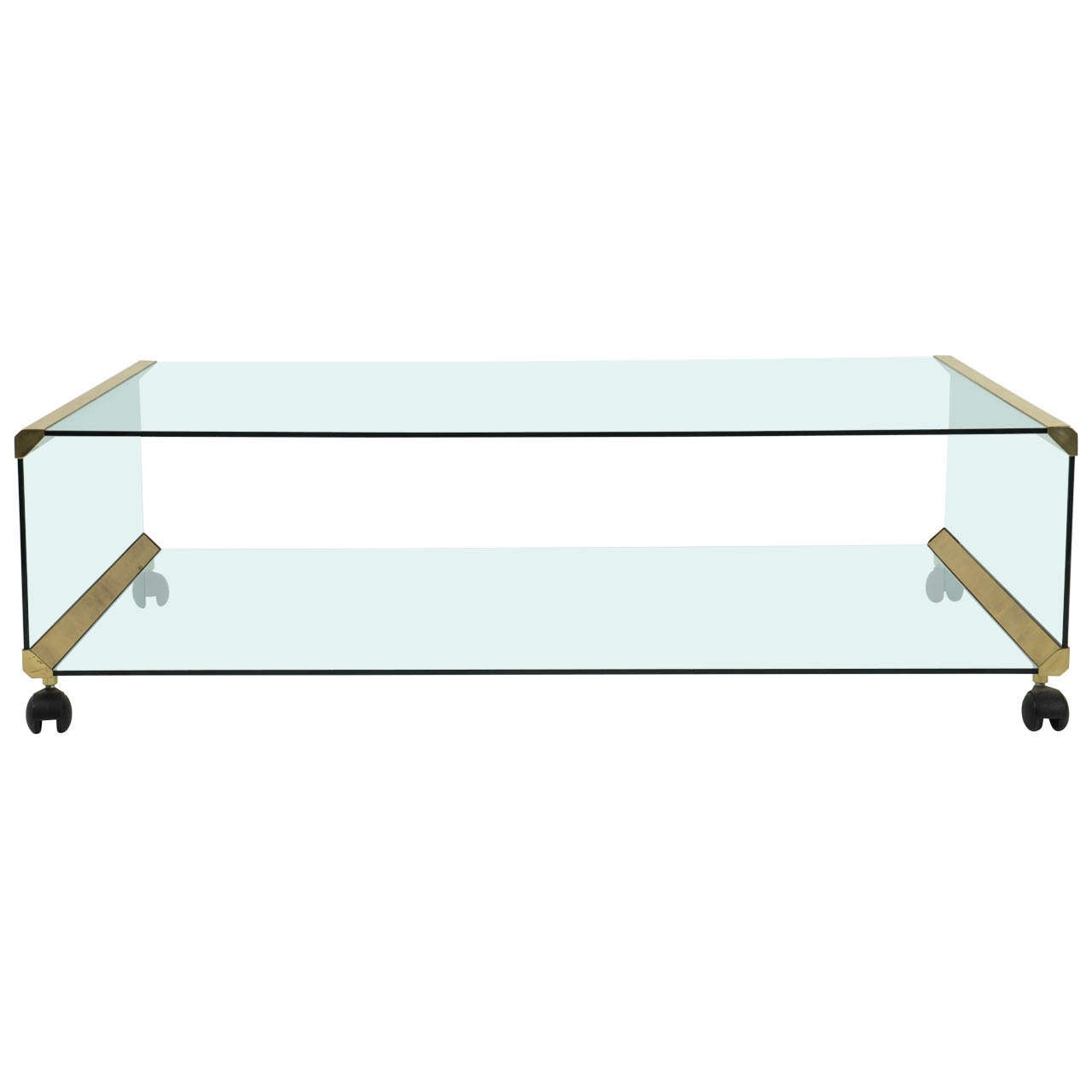 "Italian brass Coffee Table ""George"" by Pierangelo Galotti for Galotti & Radice"