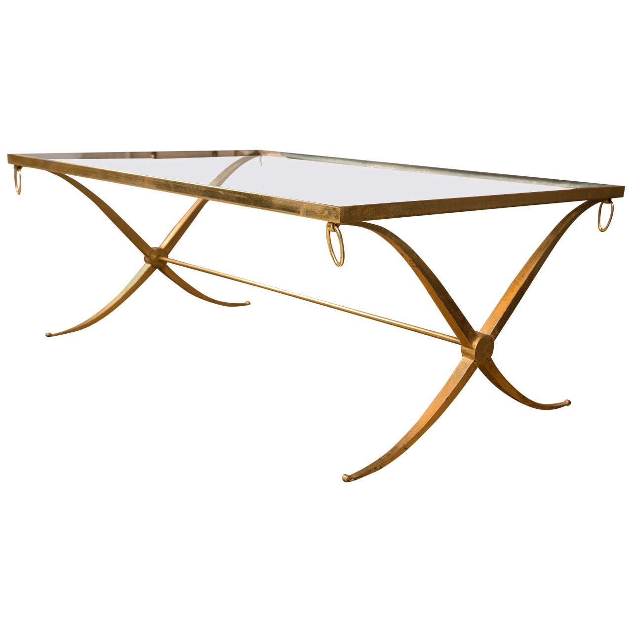 Mid Century Modern Gilt Iron Low Table At 1stdibs