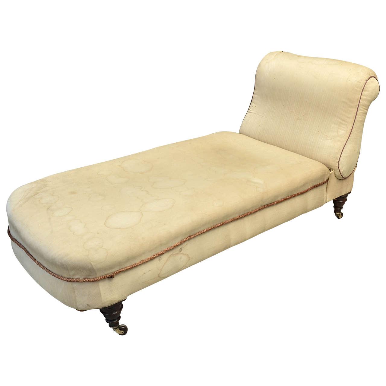 English Victorian Ratchet Back Chaise Longue