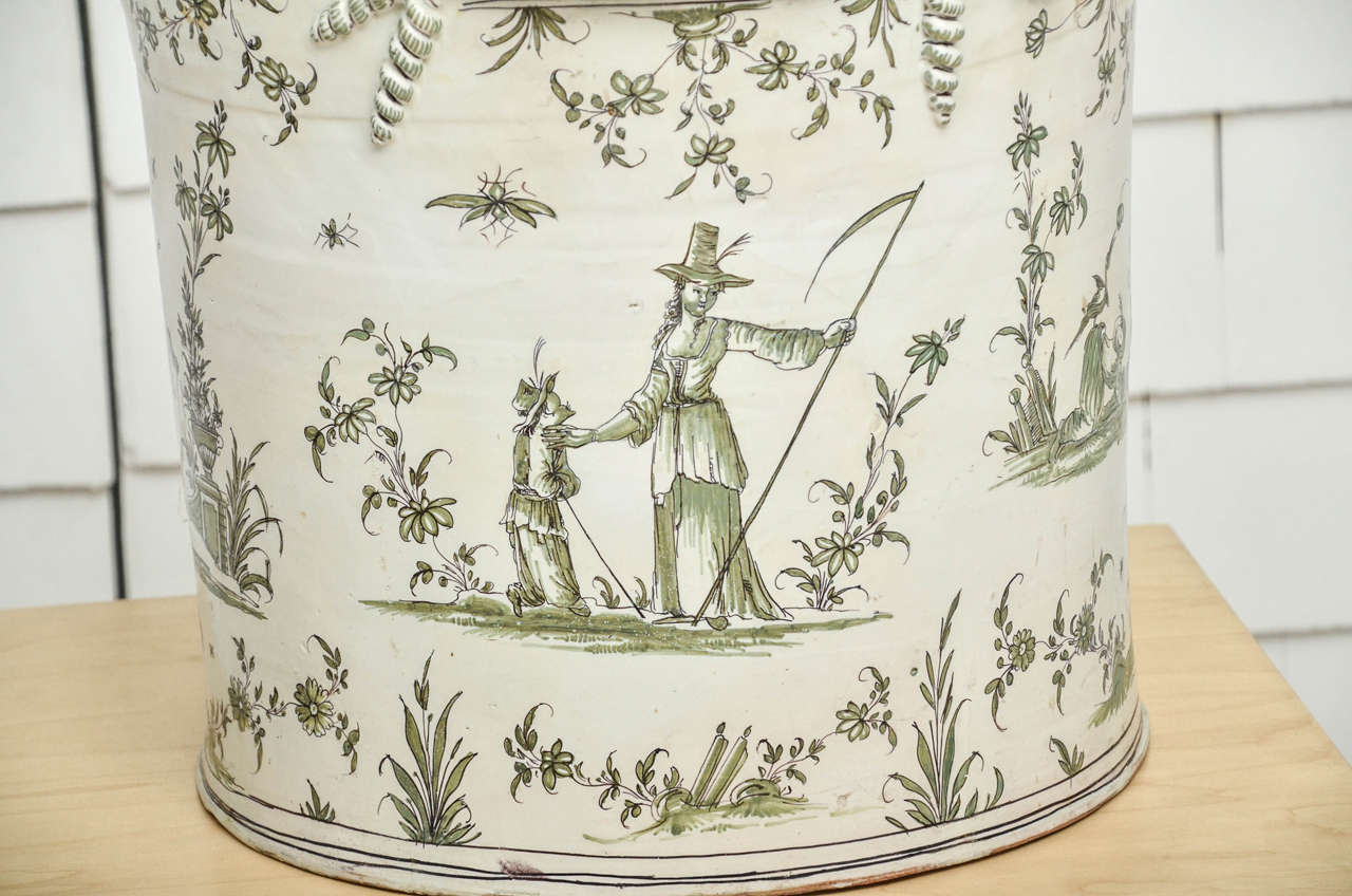Exceptionally Large 18th Century Moustiers Faience Jardiniere For Sale 1
