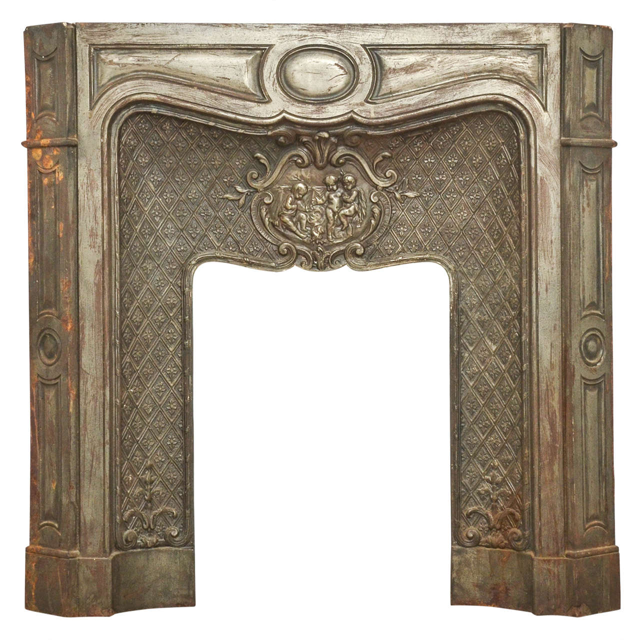 19th Century French Cast Iron Fireplace For Sale At 1stdibs