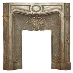 19th Century French Cast Iron Fireplace