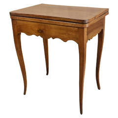 Louis XV Fruitwood Console Games Table