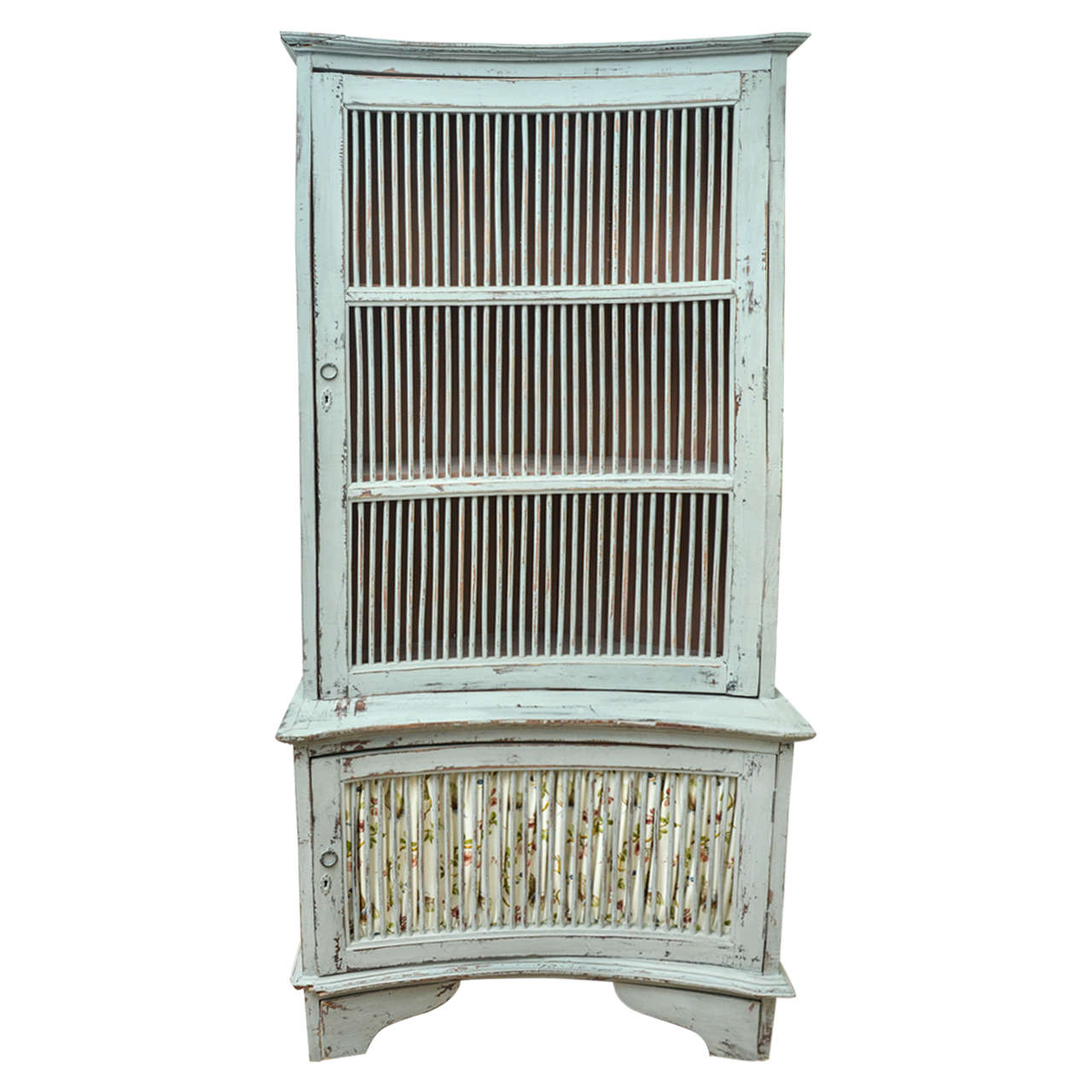 19th Century French Provencal Grey-Painted Corner Cabinet For Sale ...