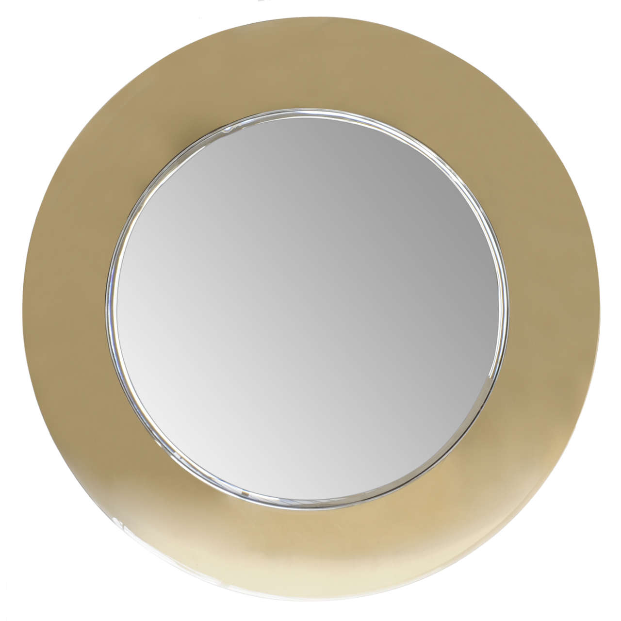 Curved mirror by fontana arte for sale at 1stdibs for Concave mirror