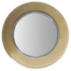 Fontana Arte Midcentury Curved Italian Mirror, 1960s