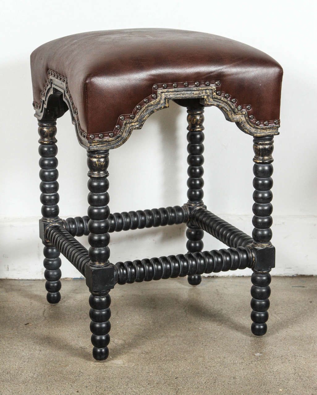 Spanish Colonial Style Bar Stools Set Of Three For