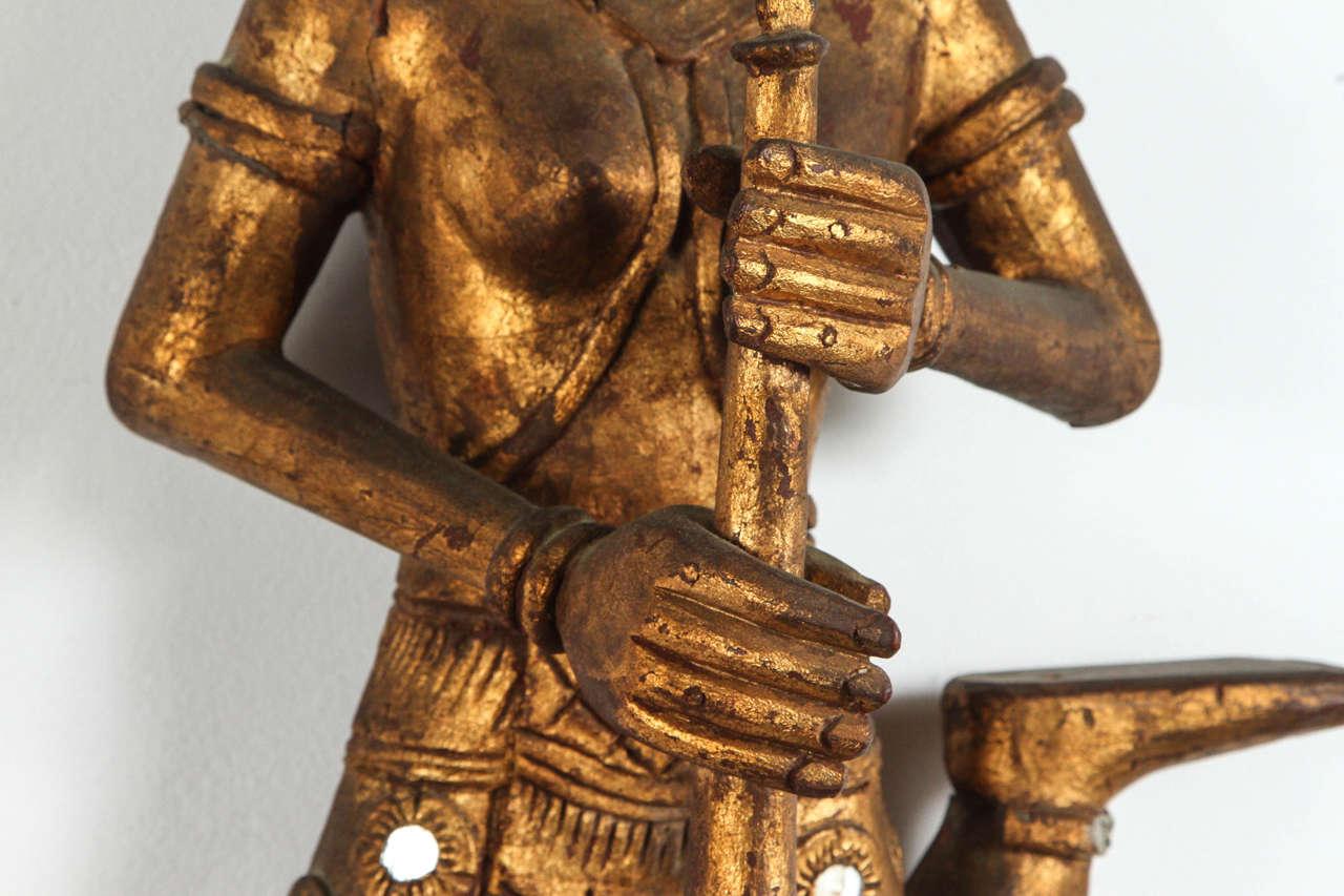 20th Century Pair of Thai Figures of Siamese Musicians For Sale