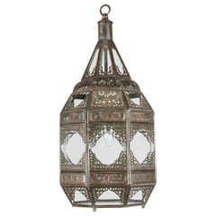 Moorish Moroccan Clear Glass Lantern