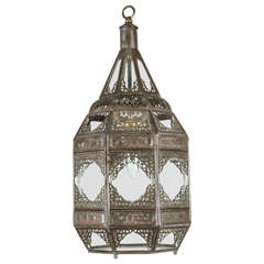 Moroccan Moorish Clear Glass Lantern