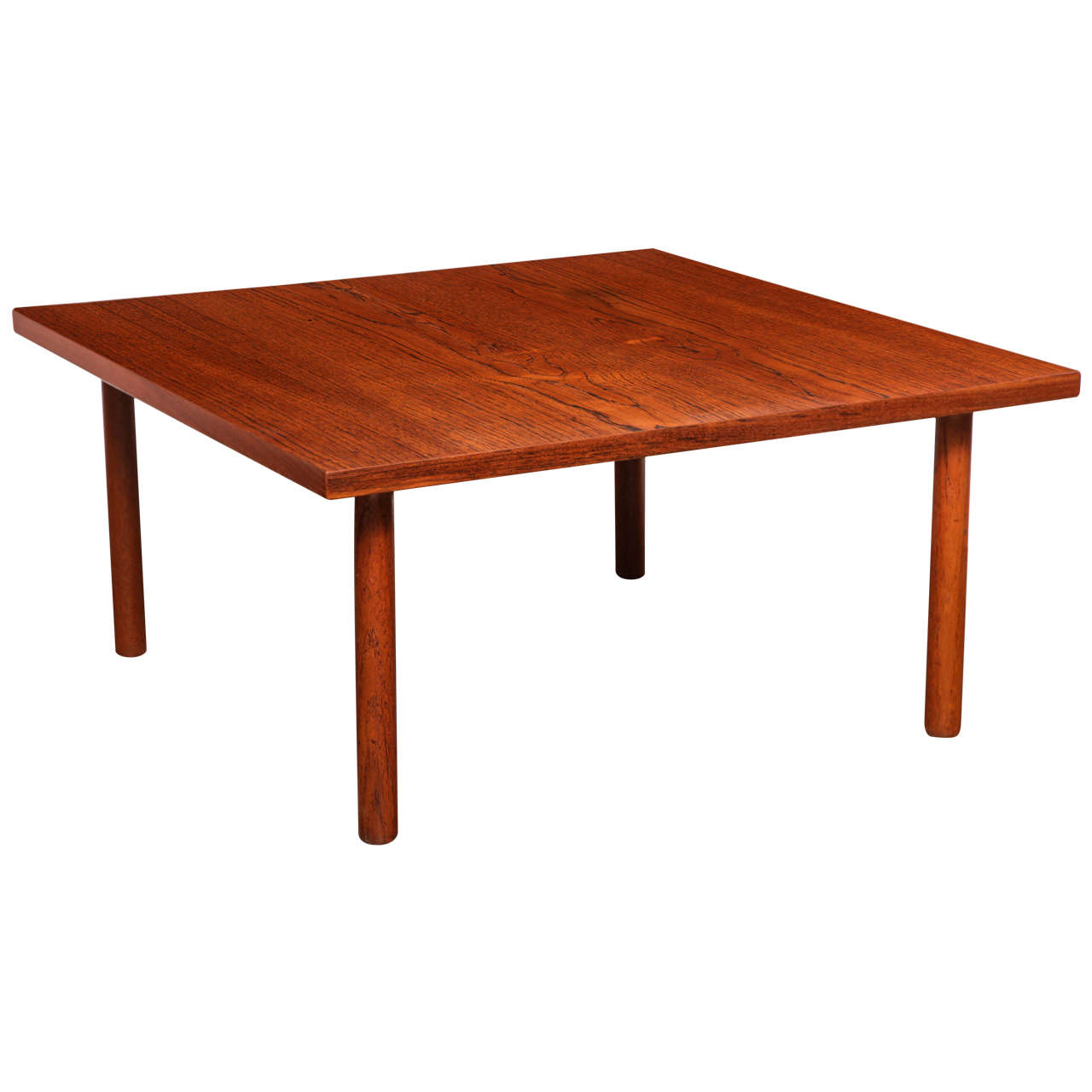 Hans Wegner Teak Side Or Coffee Table By Getama 1960s For Sale At 1stdibs