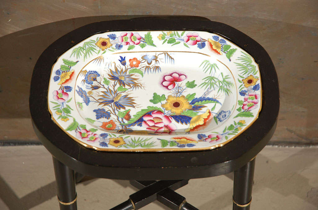 An Ironstone China Platter, Mounted as a Table 4