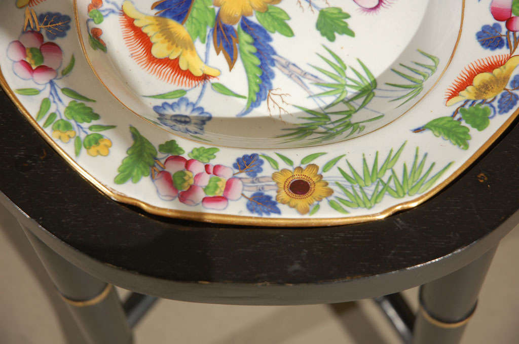 An Ironstone China Platter, Mounted as a Table 8