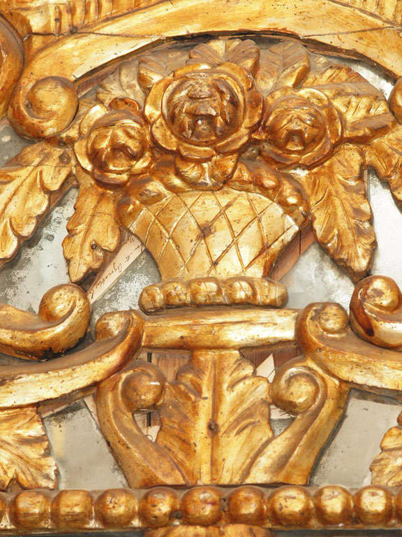 French Itlain Louis XIV Gilt Mirror For Sale