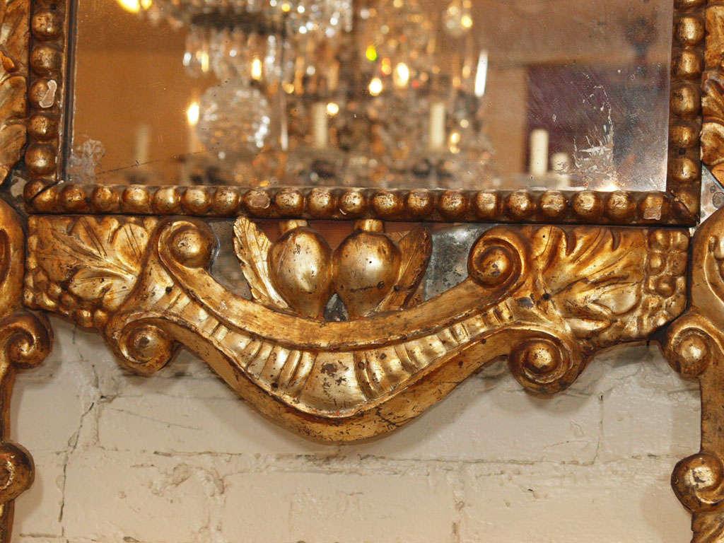 Itlain Louis XIV Gilt Mirror For Sale 2