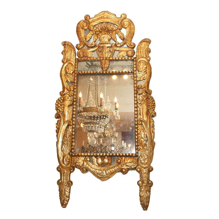 Itlain Louis XIV Gilt Mirror