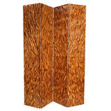 Faux Tortoiseshell Double-Sided Screen/ Room Divider