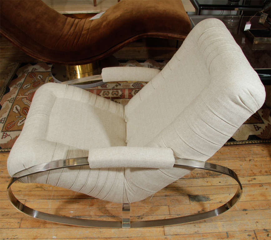 Mid Century Rocking Lounge Chair by Milo Baughman at 1stdibs
