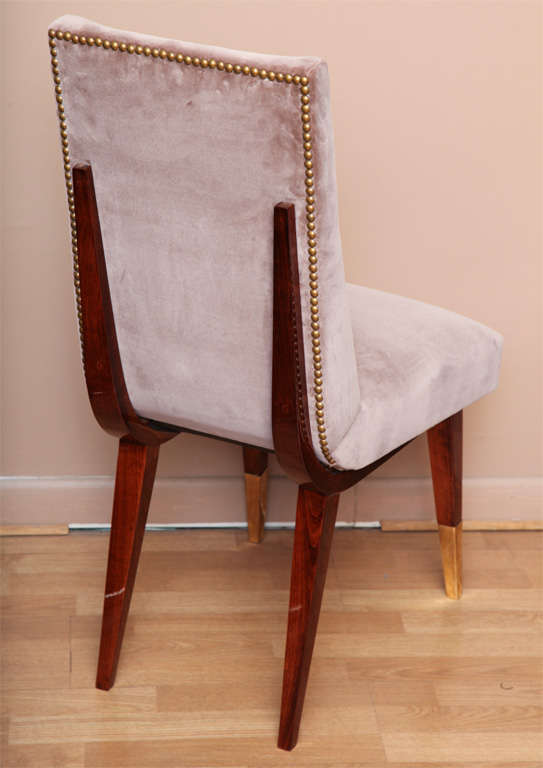 Fabulous Suite Of 6 Deco Dining Chairs At 1stdibs