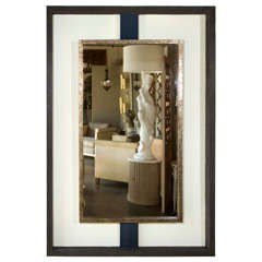 Paul Marra Negative Space Mirror  Distressed Finish & Horsehair