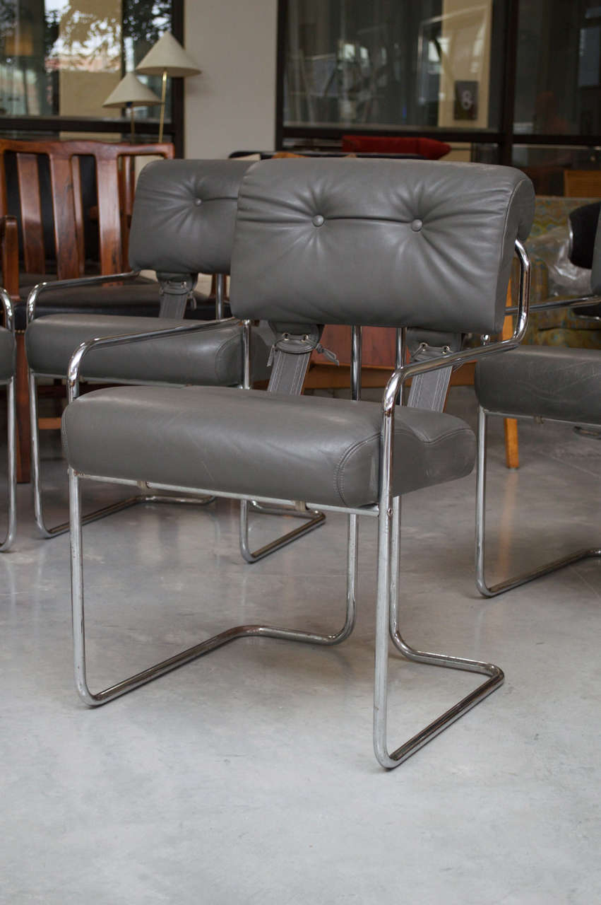 Mariani For Pace Set Of Four Tucroma Dining Chairs For