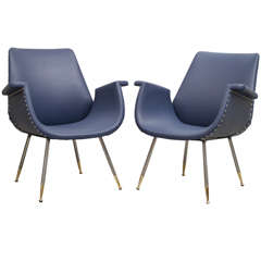 Gastone Rinaldi - Pair of armchairs