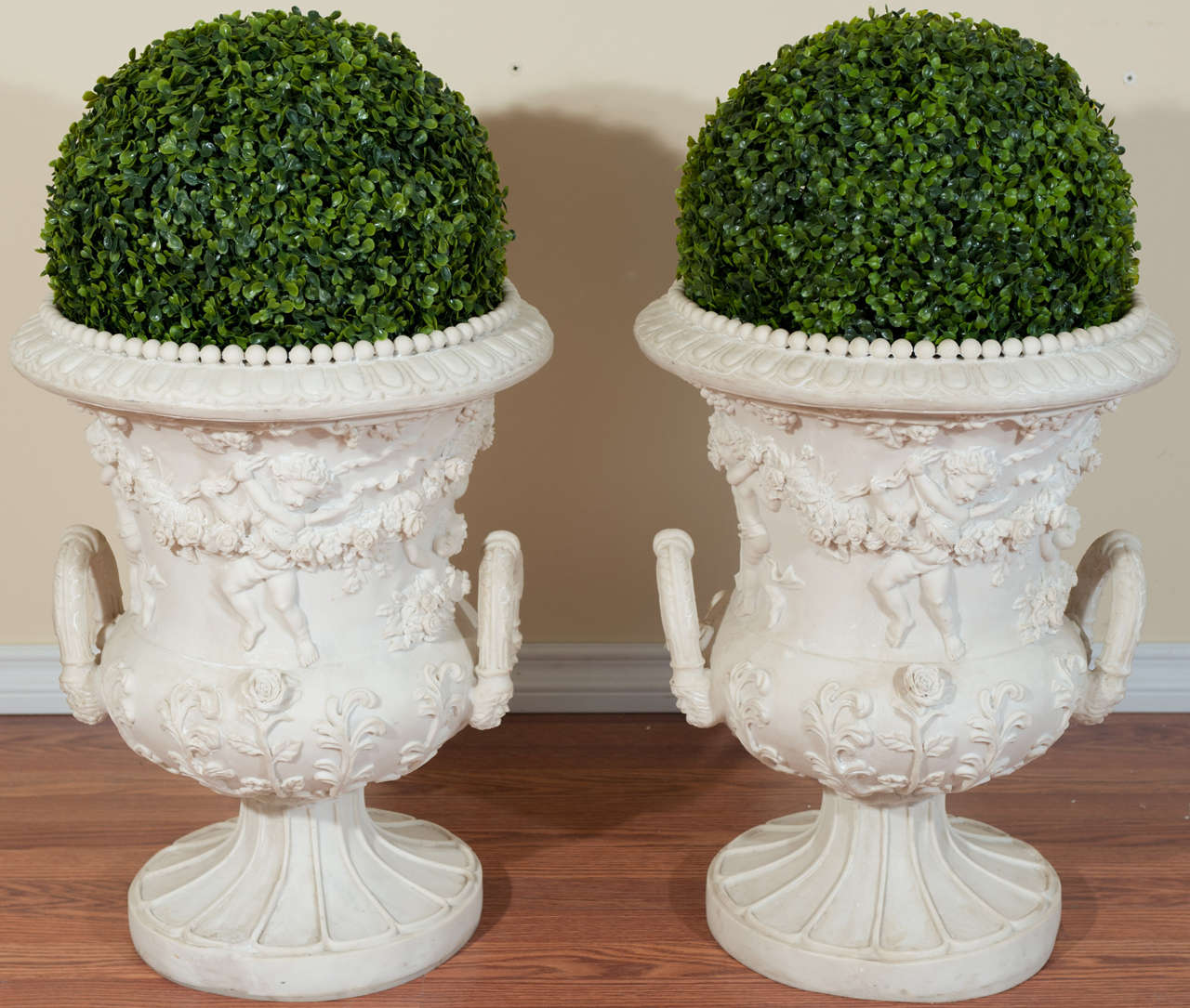 Louis XV Style Ornate Resin Urns 2