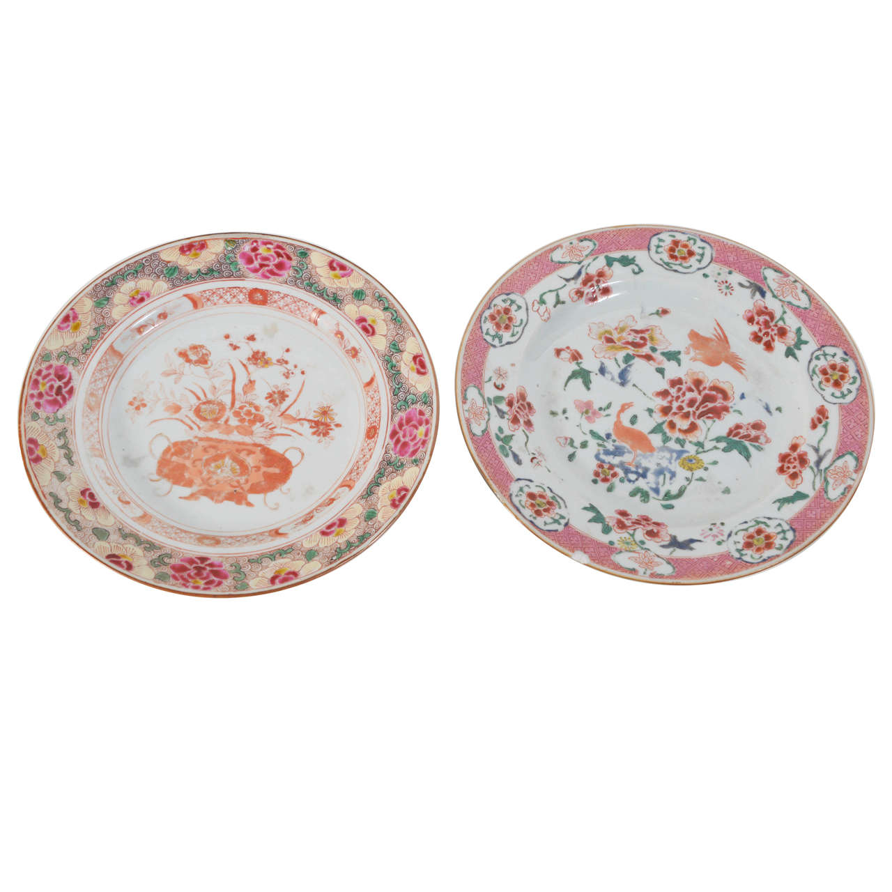 Companion Pair of Chinese Export Porcelain Plates