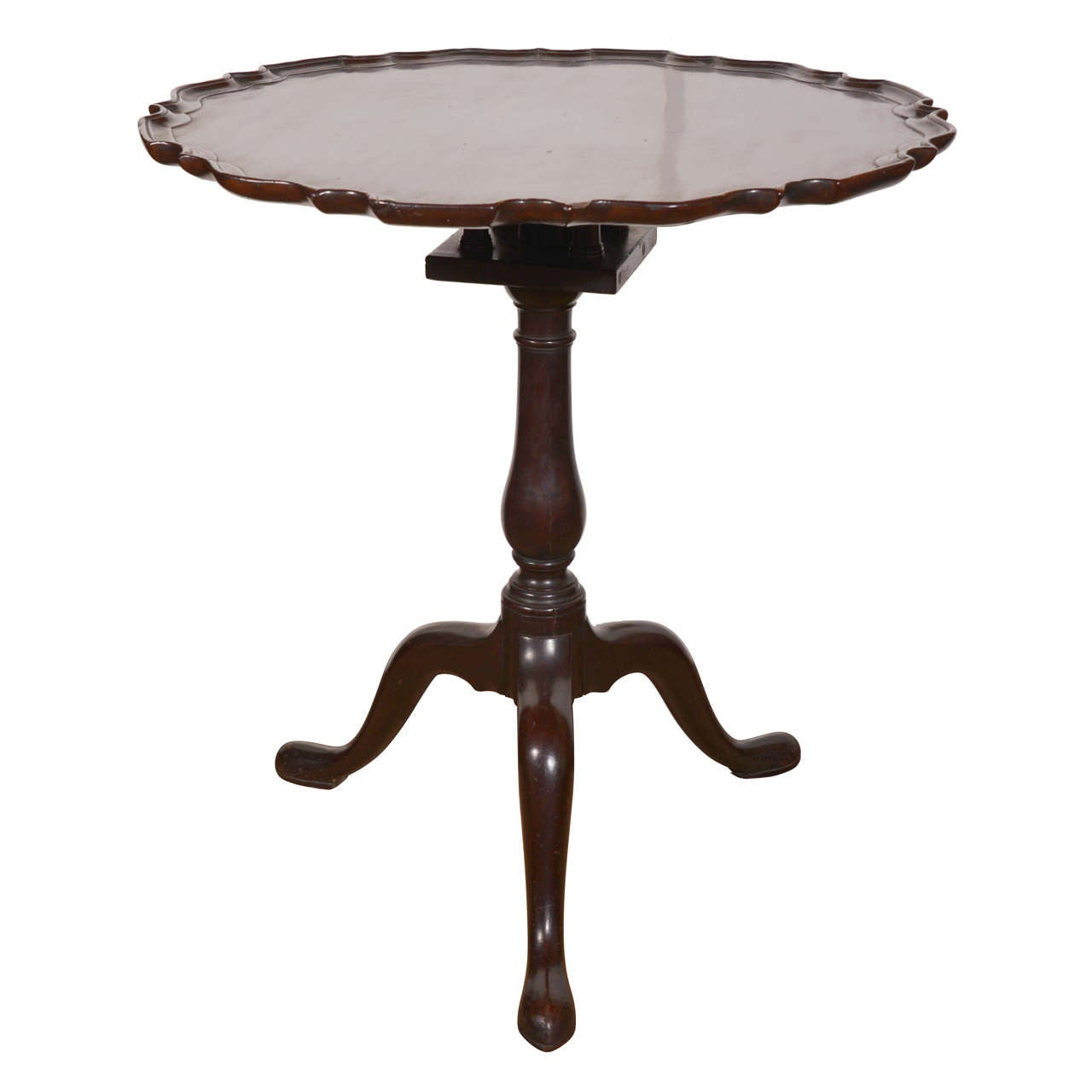 George II Mahogany Piecrust Tilt-top Tea Table