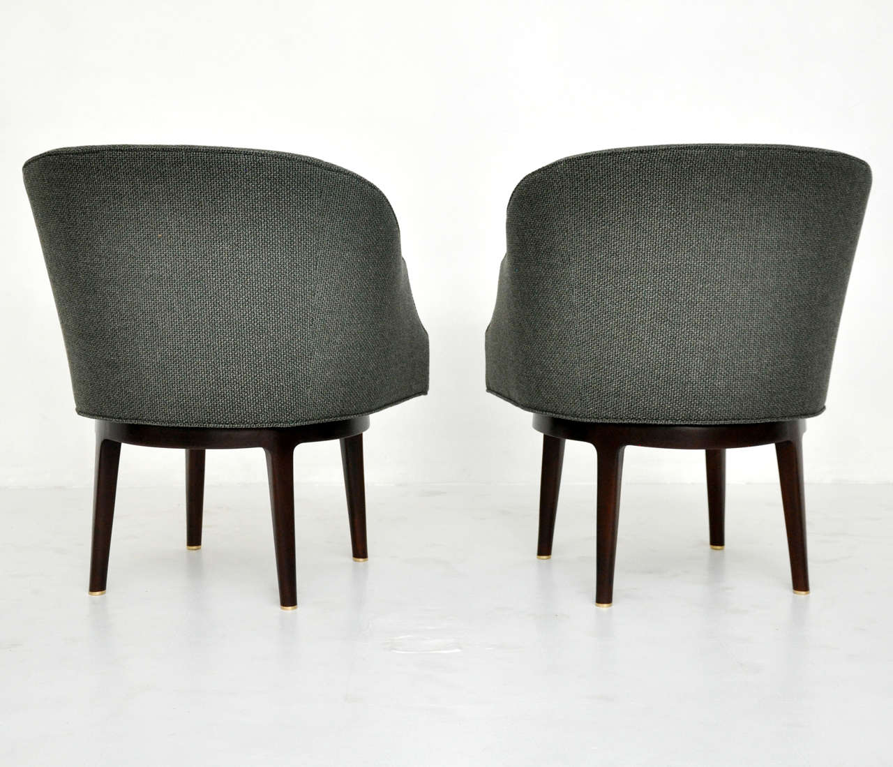 Dunbar Swivel Lounge Chairs by Edward Wormley For Sale 1