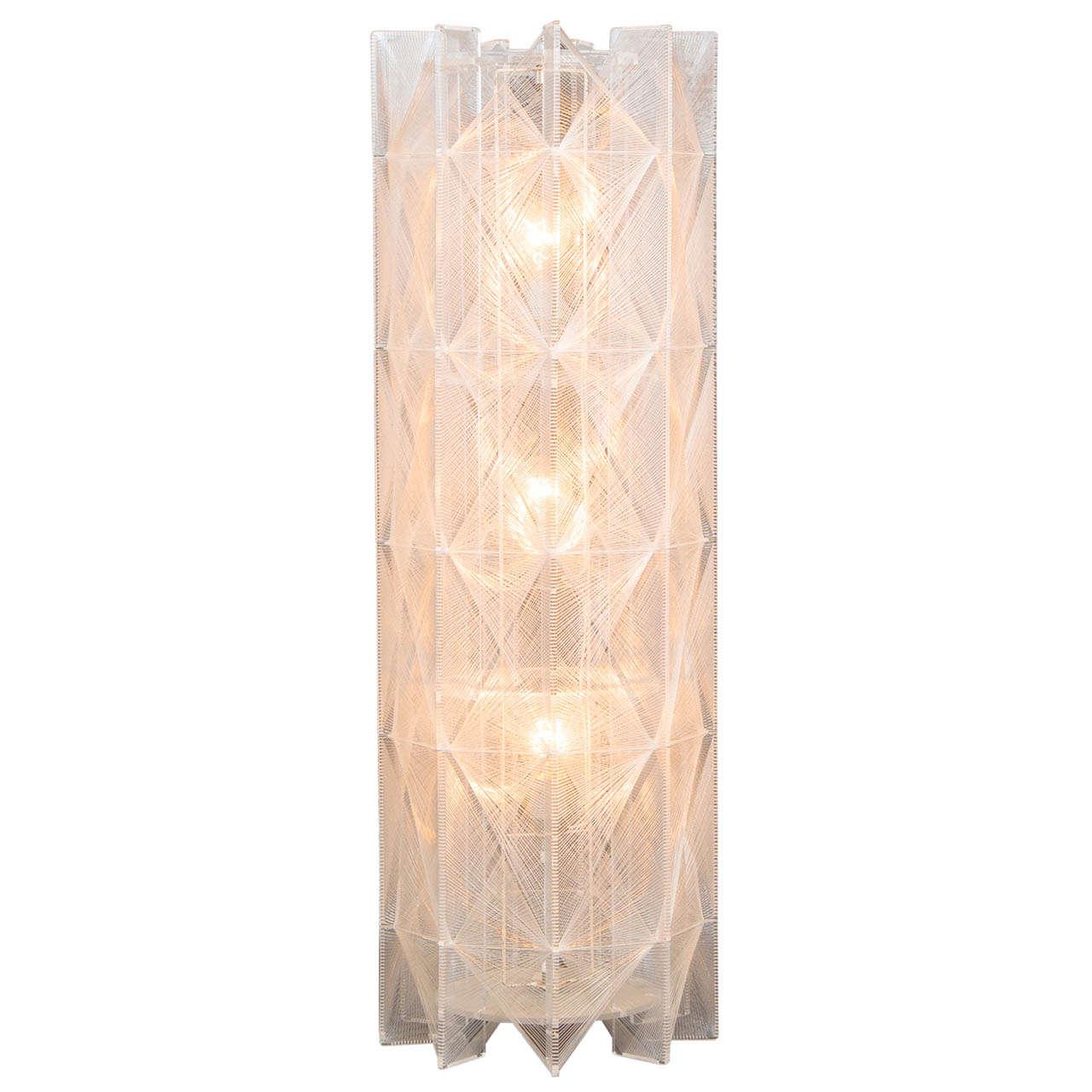 Lucite and Braided Nylon Floor Lamp