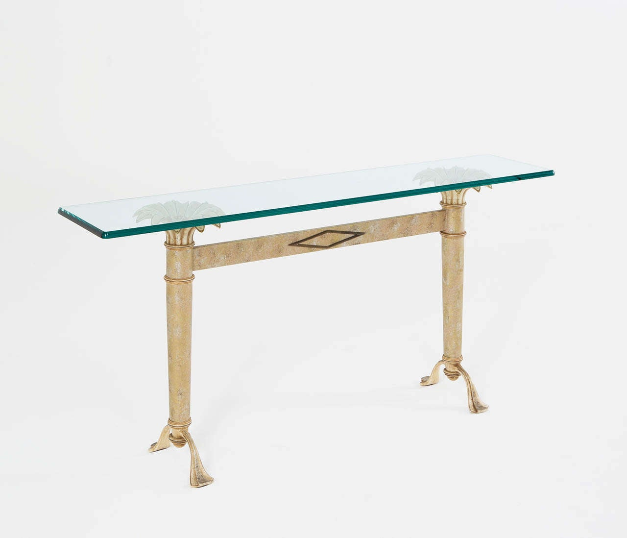 how to build a console table with glass top