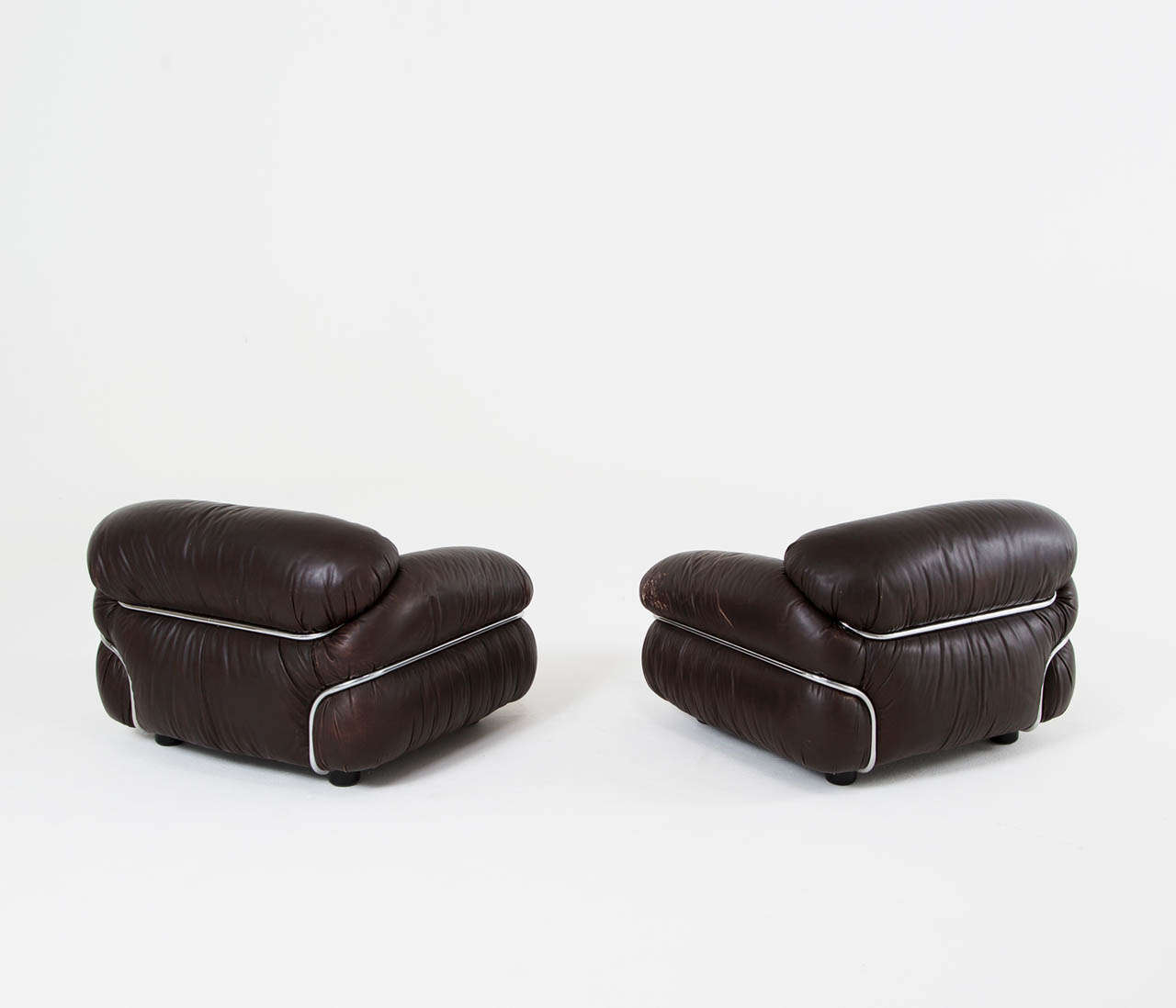 Pair Of Quot Sesann Quot Lounge Chairs By Gianfranco Frattini For